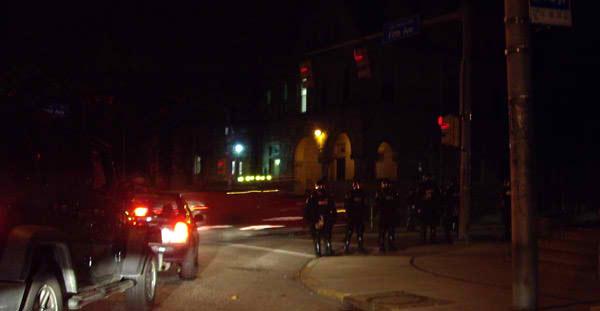 Police roadblock at University of Pittsburgh