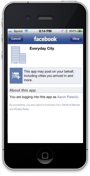 Facebook Authorization Prompt