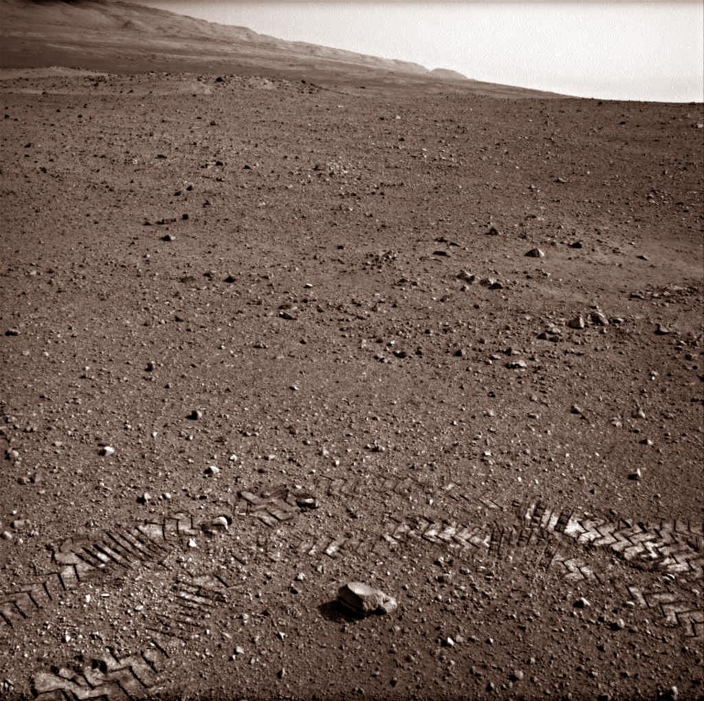 Tire Tracks on Mars