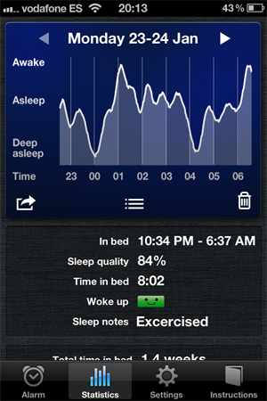 Sleep Cycle Screenshot