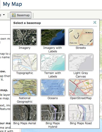 Choose a basemap