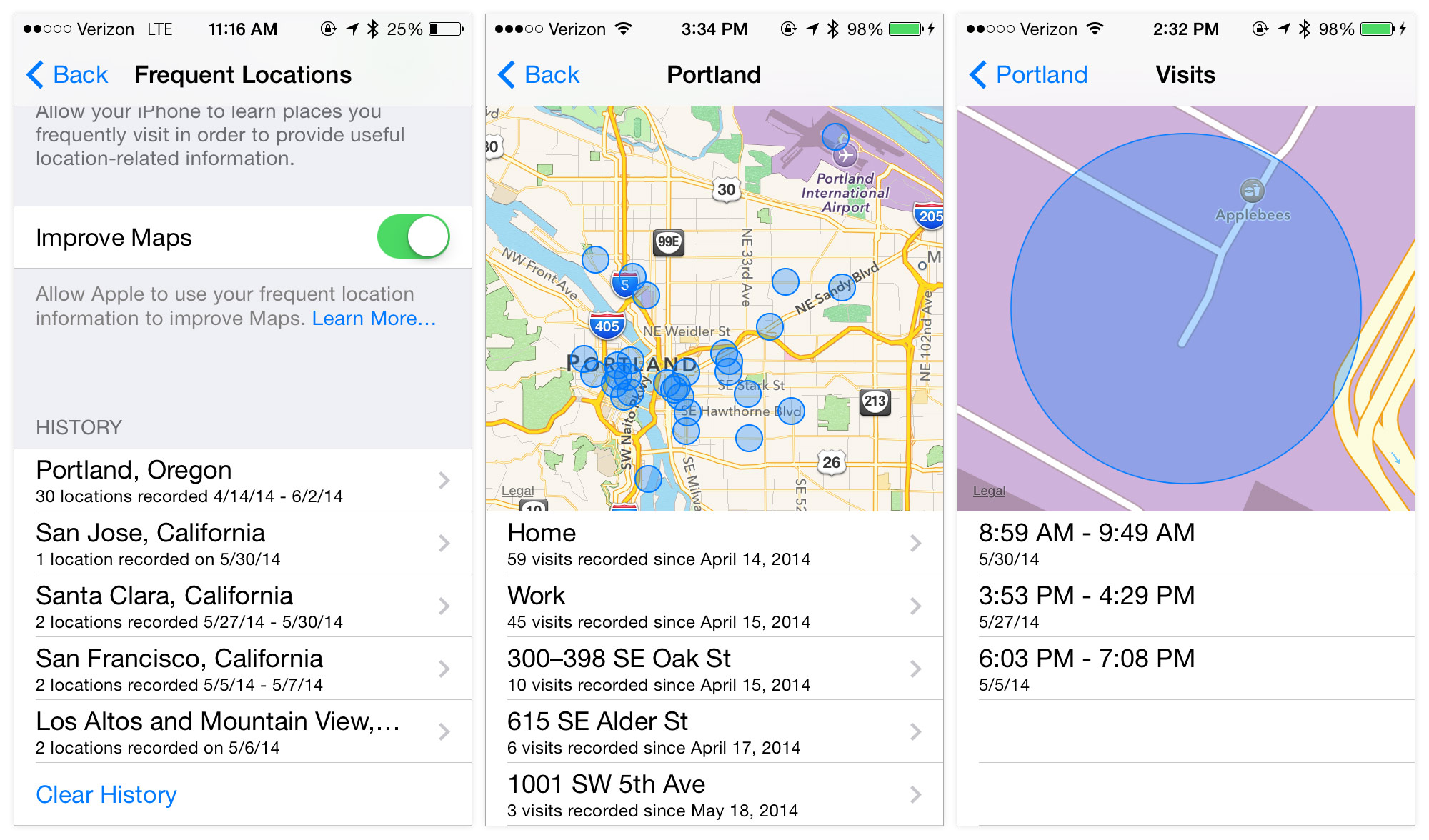 iphone frequent locations frequent locations api in ios 8 aaron parecki 11879