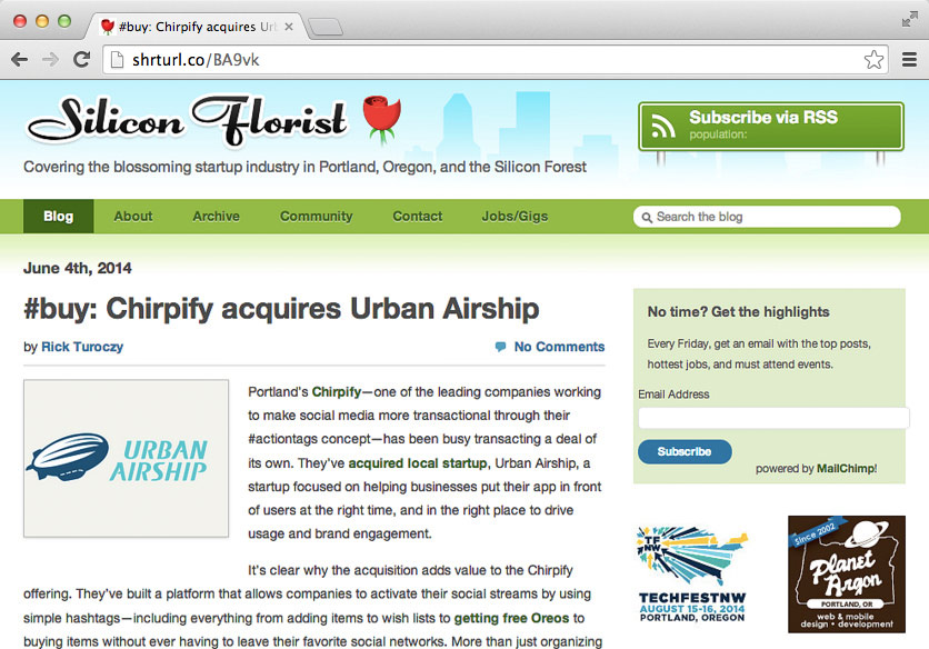 Chirpify Acquires Urban Airship Preview