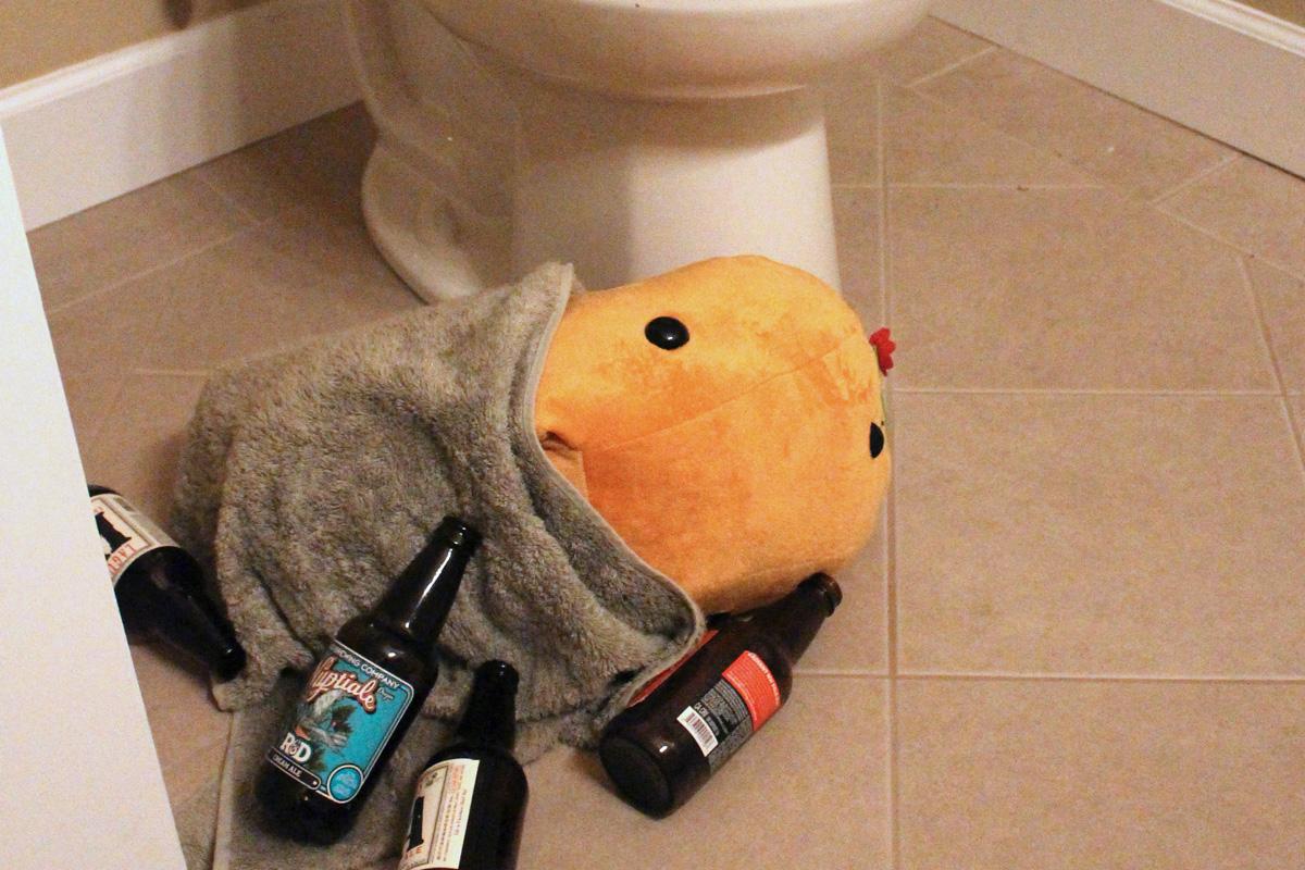 Drunk capybara
