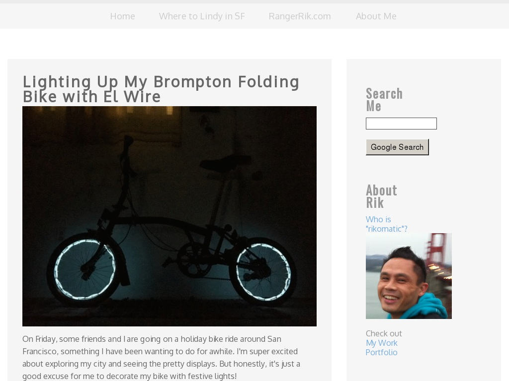 Lighting Up My Brompton Folding Bike With El Wire Www Rikomatic Portland