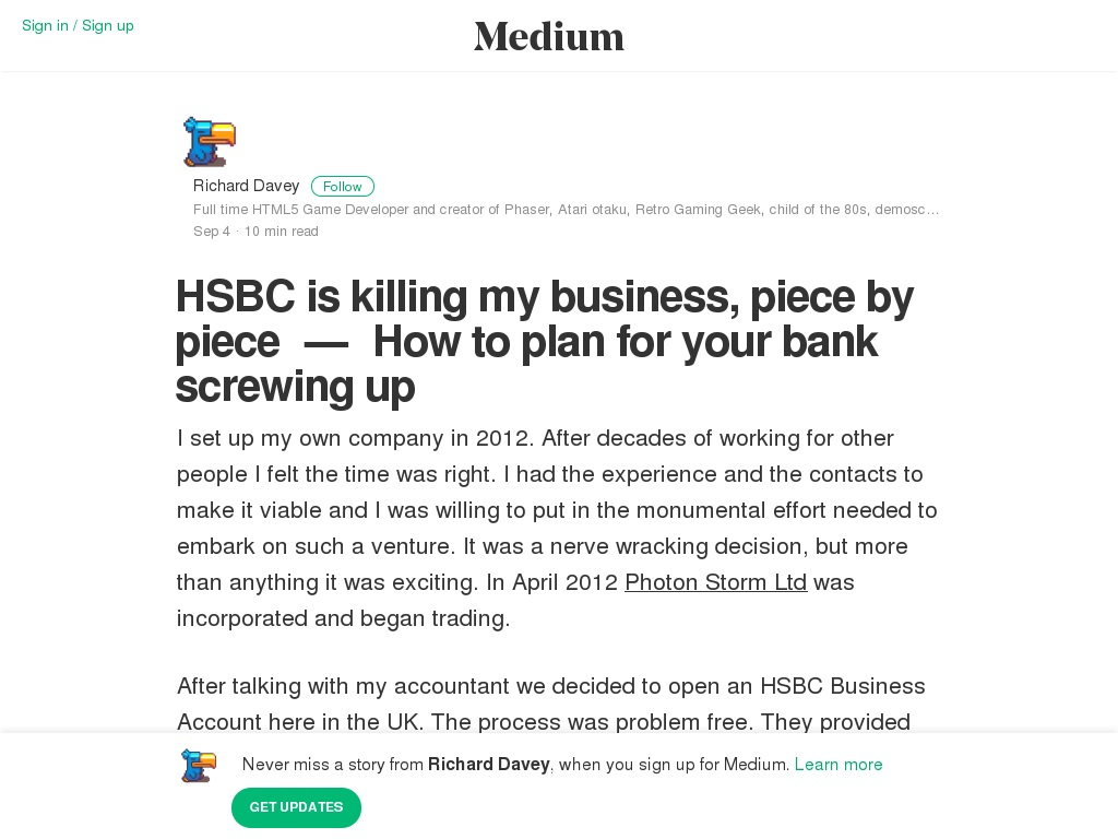HSBC is killing my business, piece by piece — How to plan for
