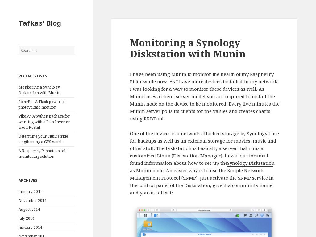 Monitoring a Synology Diskstation with Munin | Tafkas • Aaron Parecki