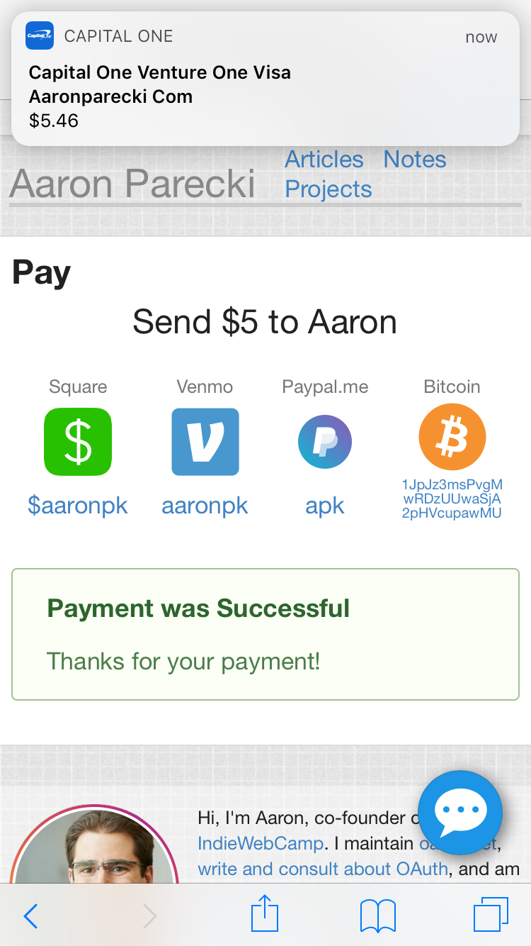 Payment Requests using Stripe and Apple Pay • Aaron Parecki