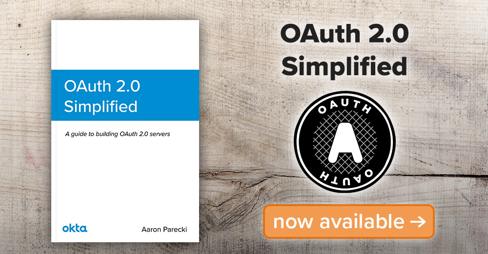 OAuth 2.0 Simplified Now Available