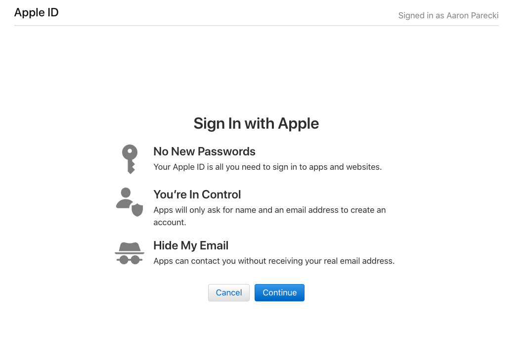 Well this is exciting  🍎🔐 #AppleID #OAuth #WWDC2019 #WWDC • Aaron