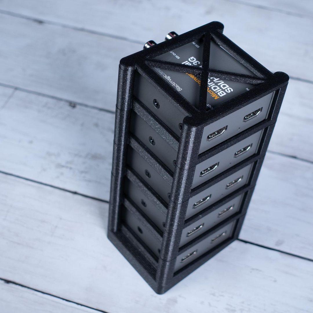 Stack of Blackmagic converters
