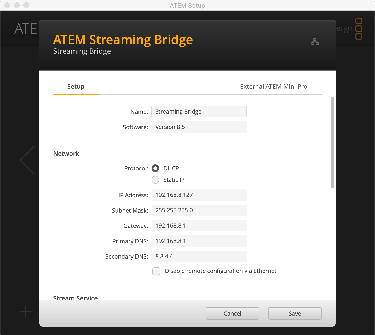 Streaming Bridge IP